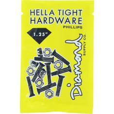 """DIAMOND HELLA TIGHT PHILLIPS 1.25""""BLK/SIL HARDWARE"""