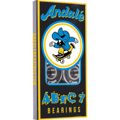 ANDALE ABEC-7 BEARINGS SINGLE SET BLK