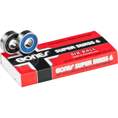 BONES SUPER SWISS 6 BALL (SINGLE SET) BEARINGS