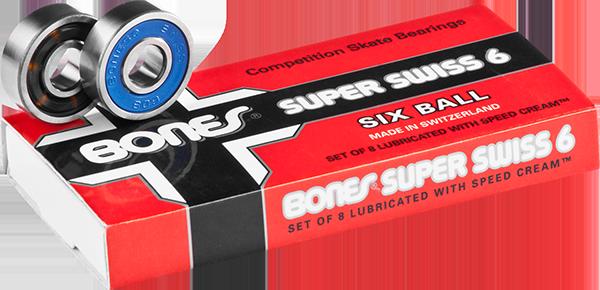 BONES SUPER SWISS 6 BALL (SINGLE SET) BEARINGS