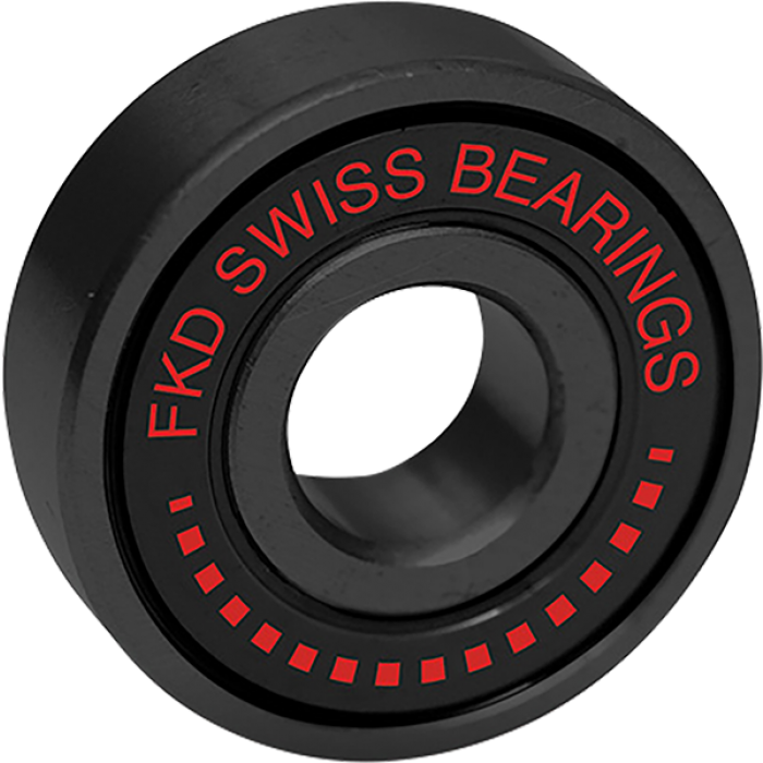 FKD SWISS BLACK BEARING SET BLK/BLK W/RED