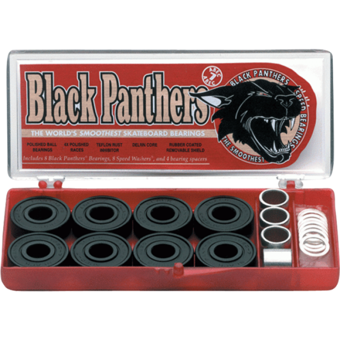 SHORTYS BLACK PANTHERS ABEC-7 single set