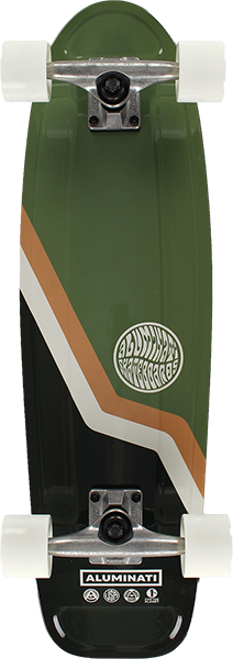"ALUMINATI VAN JERRY COMPLETE-8.12x28"" GREEN"