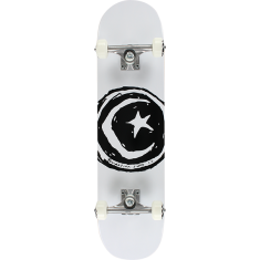 FOUND STAR & MOON COMPLETE-7.75 WHITE