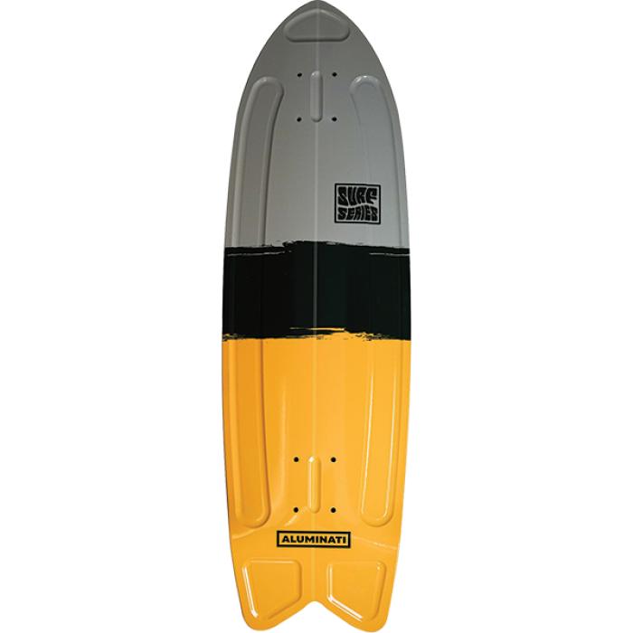 "ALUMINATI SUMMER SURF FISH DECK-8.12x28"" STREAK"
