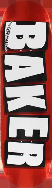 BAKER BRAND LOGO FOIL DECK-8.5 RED