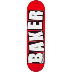 BAKER BRAND LOGO DECK-8.0 RED/WHITE