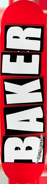 BAKER BRAND LOGO DECK-8.25 RED/WHITE