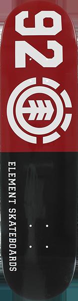 EL 92 CLASSIC DECK-8.0 BLK/RED/WHT
