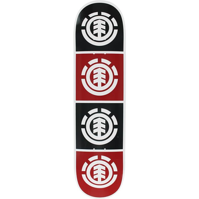 EL QUADRANT DECK-7.5 WHT W/BLK/RED