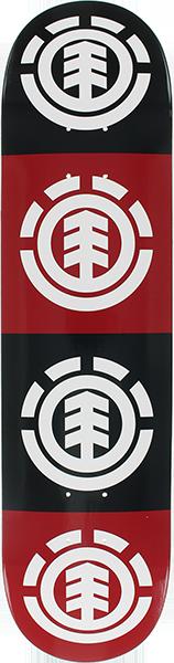 EL QUADRANT DECK-7.75 RED/BLK/WHT