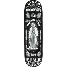 5BORO CINCO BARRIOS DECK-8.25 BLACK