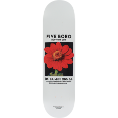 5BORO FLOWER SEED DECK-8.0 WHITE/RED