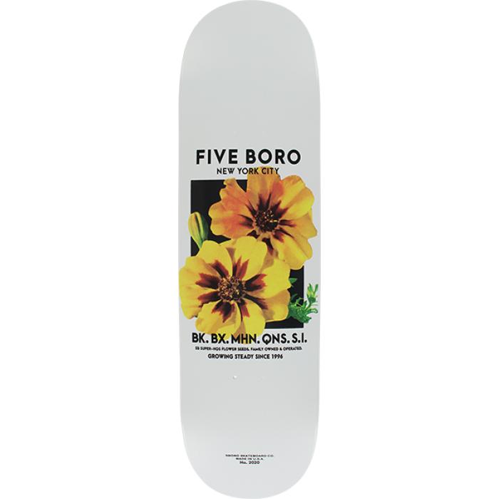 5BORO FLOWER SEED DECK-8.25 WHITE/YEL