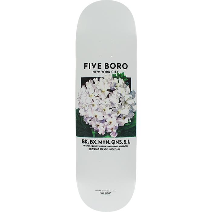 5BORO FLOWER SEED DECK-8.5 WHITE/WHT