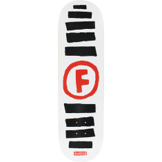 FOUND DOODLE STRIPE DECK-8.5 WHT/BLK/RED ppp