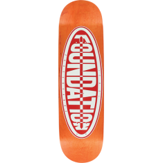 FOUND OVAL DECK-8.25 ORANGE/RED screened