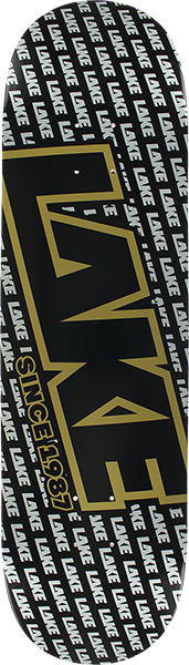 LAKE GOLD DIGGER LOGO DECK-8.5 BLK/SIL/GOLD