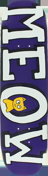 MEOW LOGO MINI DECK-7.25 PURPLE