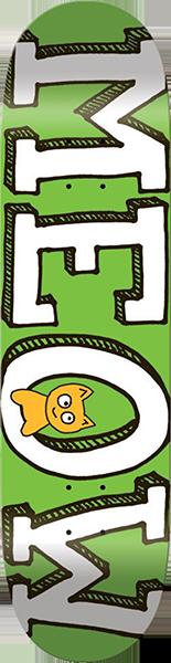 MEOW LOGO MINI DECK-7.5 GREEN