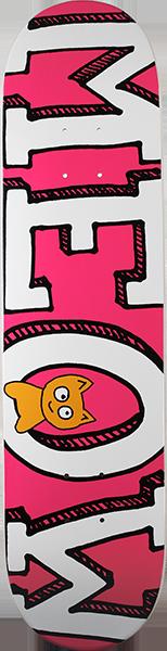 MEOW LOGO DECK-7.75 PINK