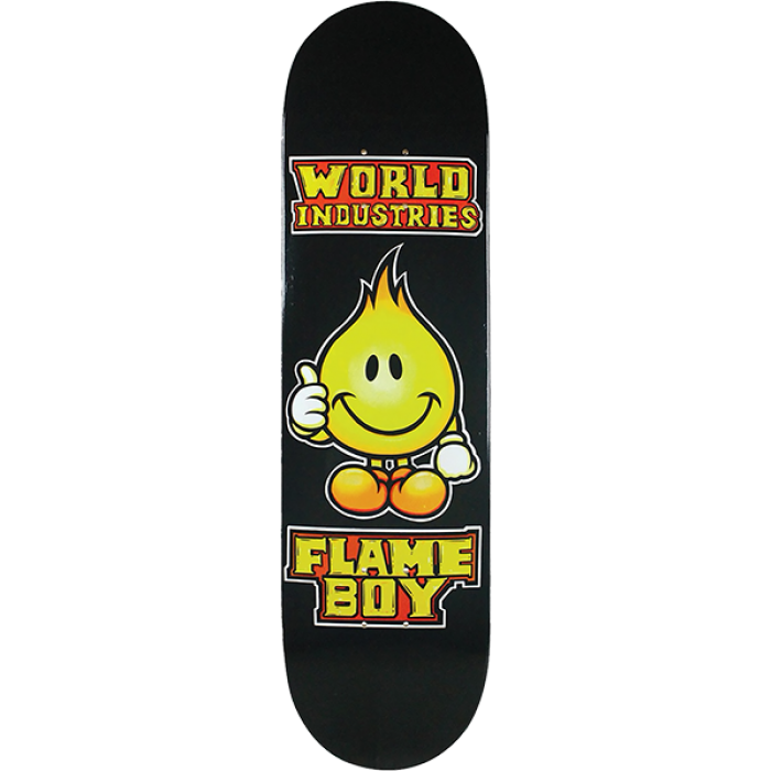 WI SOLID GOLD FLAME BOY DECK-8.3 BLACK