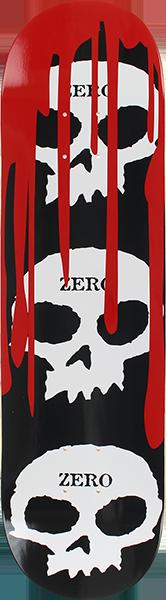 ZERO 3 SKULL WITH BLOOD DECK-7.75 BLK/WHT/RED