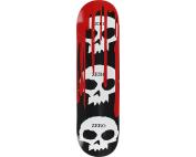 ZERO 3 SKULL WITH BLOOD DECK-8.0 BLK/WHT/RED