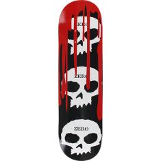 ZERO 3 SKULL WITH BLOOD DECK-8.25 BLK/WHT/RED