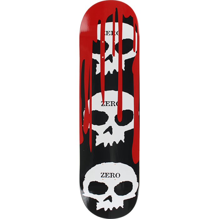 ZERO 3 SKULL WITH BLOOD DECK-8.25 BLK/WHT/RED