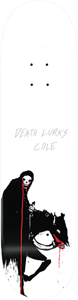 ZERO COLE PC DEATH LURKS DECK-8.25 WHT DIP