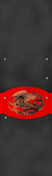 PWL/P GRIP SHEET 9x33 OVAL DRAGON BLK/RED