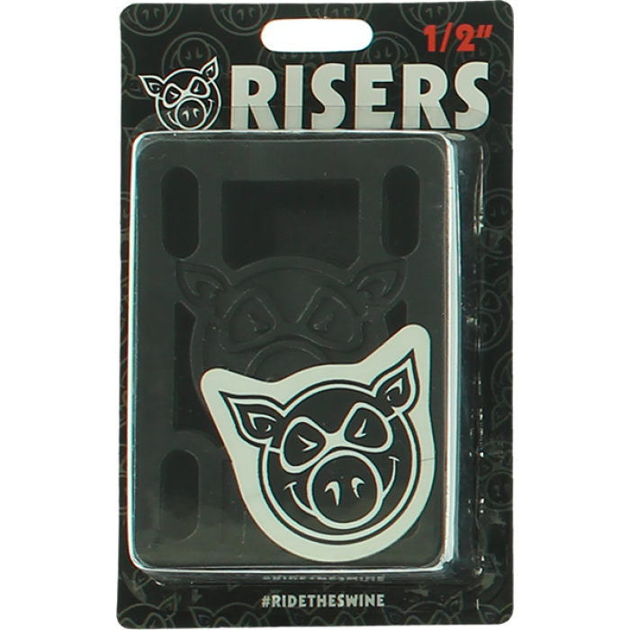 "PIG PILES 1/2"" HARD RISERS BLACK single set"