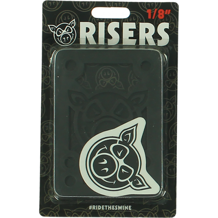 "PIG PILES 1/8"" HARD RISERS BLACK single set"