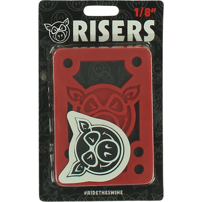 "PIG PILES 1/8"" HARD RISERS RED single set"