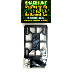 "SJ RISE UP 1/4"" RISER PADS & BOLTS COMBO SET BLACK"