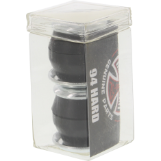 INDE STD CONICAL CUSHIONS 94a BLK 2pr w/washers