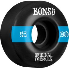 BONES 100's OG V4 #14 53mm BLACK W/BLUE