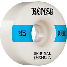 BONES 100's OG V4 #14 53mm WHITE W/BLUE