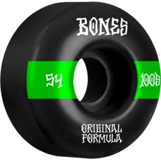 BONES 100's OG V4 #14 54mm BLACK W/GRN