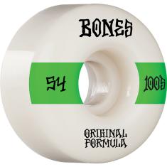BONES 100's OG V4 #14 54mm WHITE W/GRN