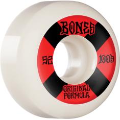 BONES 100's OG V5 #4 52mm WHITE W/RED