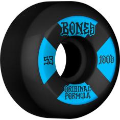 BONES 100's OG V5 #4 53mm BLACK W/BLU