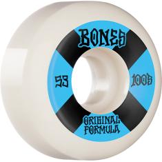 BONES 100's OG V5 #4 53mm WHITE W/BLU