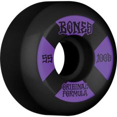 BONES 100's OG V5 #4 55mm BLACK W/PUR
