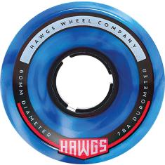HAWGS CHUBBY HAWG 60mm 78a BLUE/WHT SWIRL