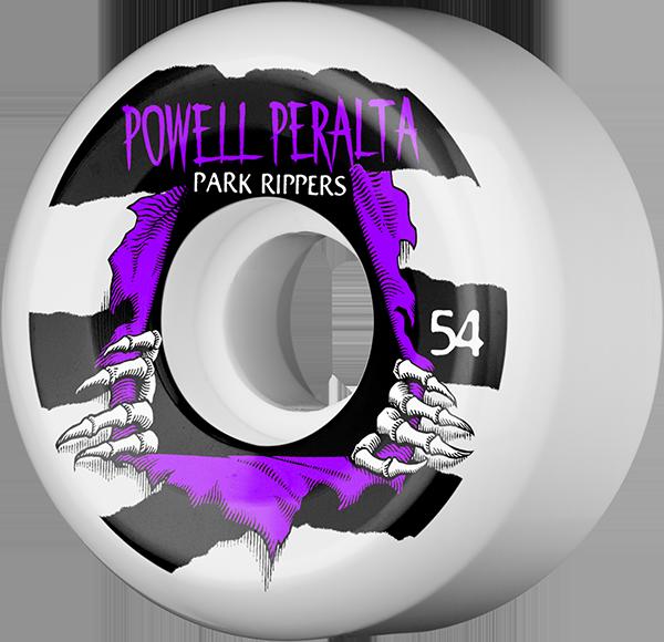 PWL/P PARK RIPPER II 54mm WHT W/PURPLE