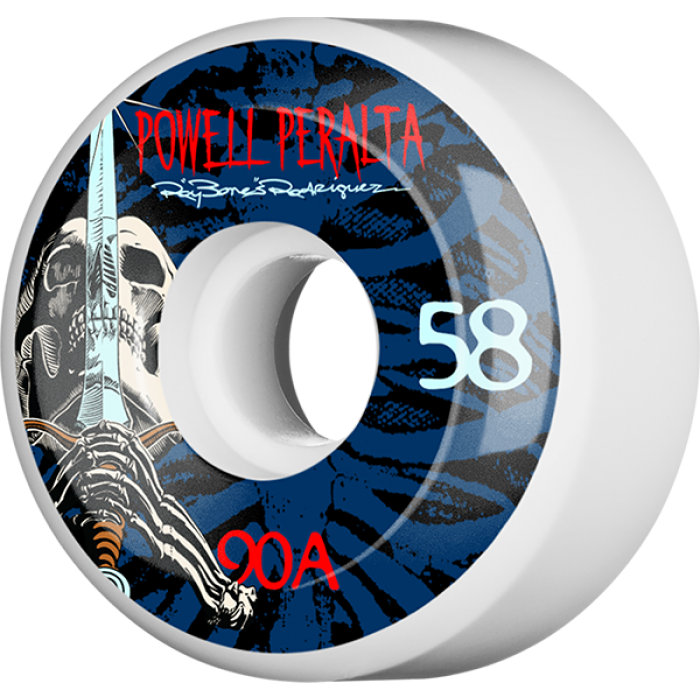 PWL/P RAY ROD SKULL & SWORD 58mm 90a WHT/BLU/RED