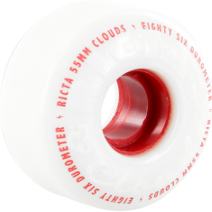 RICTA CLOUDS 55mm 86a WHT/RED