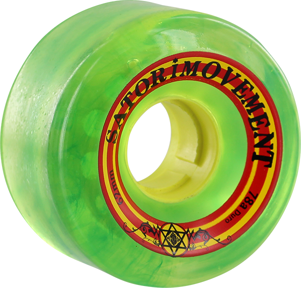 SATORI GOO BALL RASTA 62mm 78a CLEAR GREEN